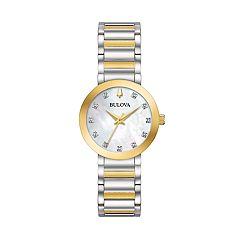 Bulova Women's Modern Diamond Accent Two Tone Stainless Steel Watch - 98P180
