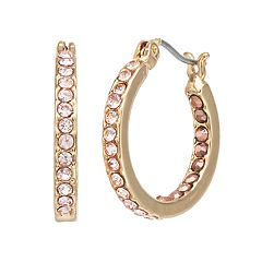 Simply Vera Vera Wang Pink Simulated Crystal Inside Out Hoop Earrings
