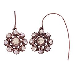 Simply Vera Vera Wang Simulated Crystal Halo Threader Earrings