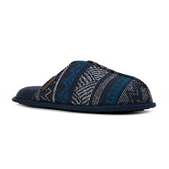 Men's Dearfoams Stitched Center Seam Scuff Slippers
