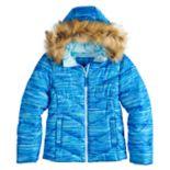 Girls 4-16 SO® Faux Fur Heavyweight Puffer Jacket