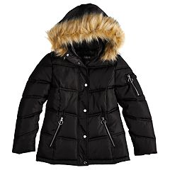 Girls 7-16 Madden NYC Removeable Hood Heavyweight Puffer Coat