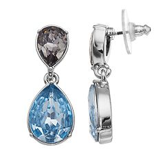 Simply Vera Vera Wang Simulated Crystal Double Teardrop Earrings