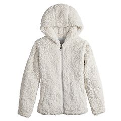Girls 7-16 SO® Plush Hooded Midweight Jacket