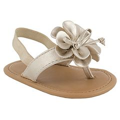 Baby Girl Wee Kids Flower Thong Sandal Crib Shoes