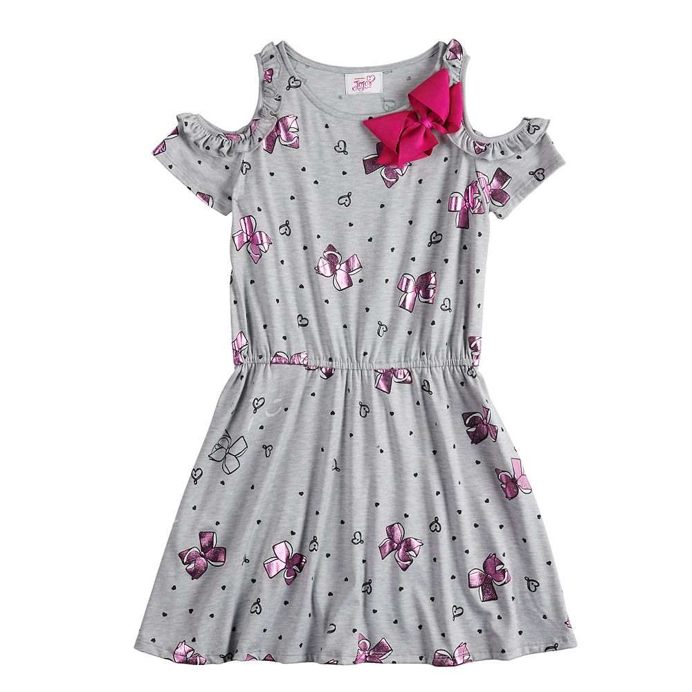 bf880af196dab Girls 7-16 JoJo Siwa Ruffled Cold Shoulder Dress with Bow Accent