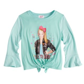 """Girls 7-16 JoJo Siwa Knotted """"Live to Dance"""" Long Bell Sleeve Top"""