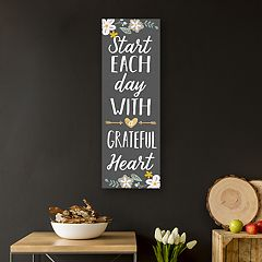 Artissimo Designs 'Grateful Heart' Canvas Wall Art