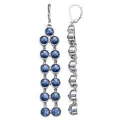 Simply Vera Vera Wang Blue Simulated Crystal Linear Drop Earrings