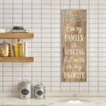 """Artissimo Designs Faux Wood """"Family"""" Canvas Wall Art"""