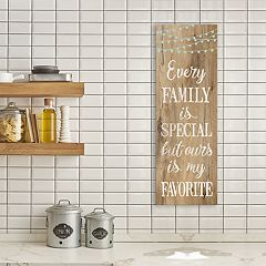 Artissimo Designs Faux Wood 'Family' Canvas Wall Art