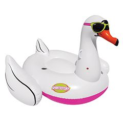 Sportsstuff Cool Swan Inflatable Ride-On Pool Float
