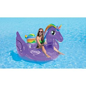 Sportsstuff Magical Unicorn Inflatable Ride-On Pool Float