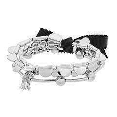 Simply Vera Vera Wang Silver Tone 3-piece Stretch Bracelet Set