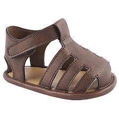 Baby Boy Wee Kids Brown Fisherman Sandal Crib Shoes