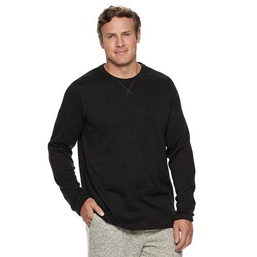 Big & Tall Croft & Barrow® Sweater Fleece Crewneck Tee