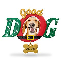 Good Dog Photo Holder 2018 Hallmark Keepsake Christmas Ornament