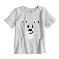 Baby Boy Jumping Beans® Felt Bear Softest Tee