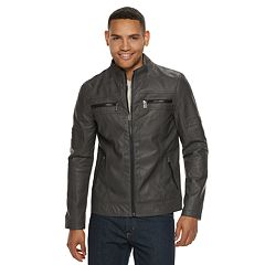 Men's Urban Republic Faux-Leather Biker Jacket