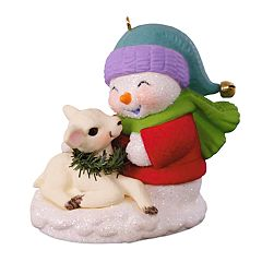 Snow Buddies Snowman & Lamb 2018 Hallmark Keepsake Christmas Ornament