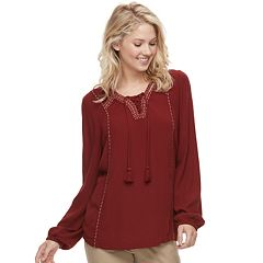 Women's SONOMA Goods for Life™ Gauze Peasant Top