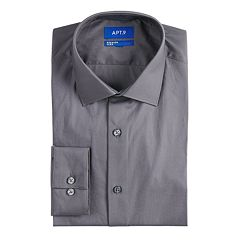 Men's Apt. 9® Extra Slim-Fit Stretch Cut-Away Collar Dress Shirt
