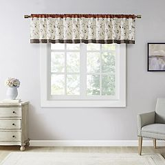 Madison Park Mandara Embroidered Window Valance