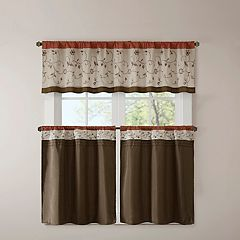Madison Park 1-Panel Mandara Embroidered Tier Kitchen Window Curtain