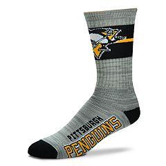 Men's For Bare Feet Pittsburgh Penguins Crew Cut Socks