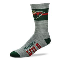 Men's For Bare Feet Minnesota Wild Crew Cut Socks