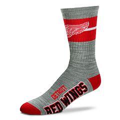 Men's For Bare Feet Detroit Red Wings Crew Cut Socks
