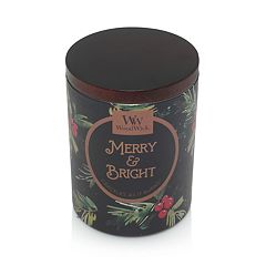 WoodWick Gallerie Merry & Bright Poplar & Pine 8.5-oz. Candle Tin