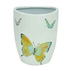 Bacova Watercolor Garden Wastebasket