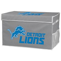 Franklin Sports Detroit Lions Large Collapsible Footlocker Storage Bin