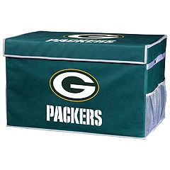 Franklin Sports Green Bay Packers Large Collapsible Footlocker Storage Bin
