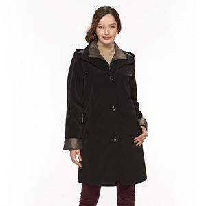 eb1285919ac Women s TOWER by London Fog Hooded Double Lapel Raincoat