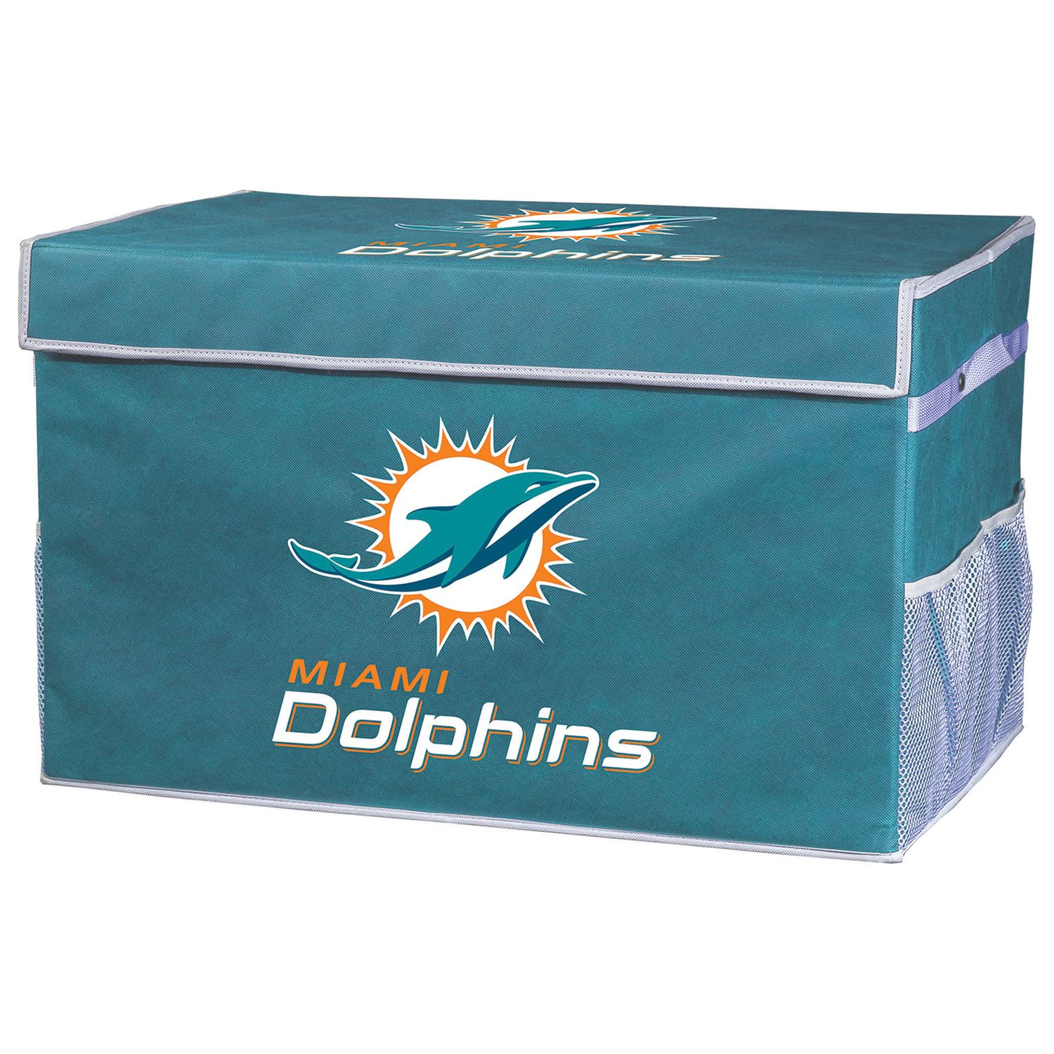 Franklin Sports Miami Dolphins Large Collapsible Footlocker Storage Bin