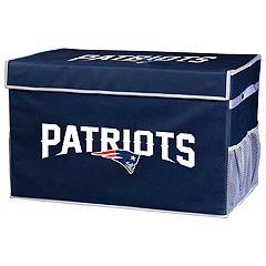 Franklin Sports New EnglandPatriots Large Collapsible Footlocker Storage Bin