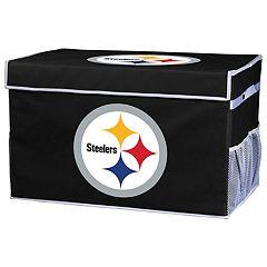 Franklin Sports Pittsburgh Steelers Large Collapsible Footlocker Storage Bin