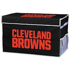 Franklin Sports Cleveland Browns Large Collapsible Footlocker Storage Bin