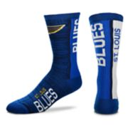 Men's For Bare Feet St. Louis Blues Bar Stripe Crew Socks