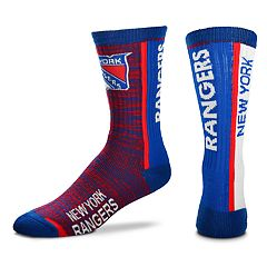 Men's For Bare Feet New York Rangers Bar Stripe Crew Socks