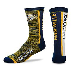 Men's For Bare Feet Nashville Predators Bar Stripe Crew Socks