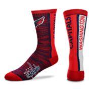 Men's For Bare Feet Washington Capitals Bar Stripe Crew Socks