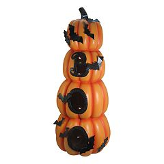 Celebrate Halloween Together 'Boo' Pumpkin Topiary Decor