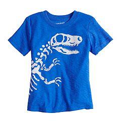 Toddler Boy Jumping Beans® Dinosaur Bones Short Sleeve Slubbed Graphic Tee