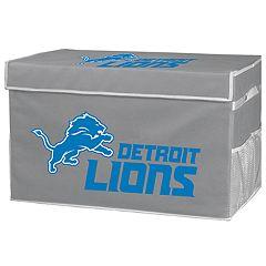 Franklin Sports Detroit Lions Small Collapsible Footlocker Storage Bin