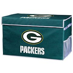 Franklin Sports Green Bay Packers Small Collapsible Footlocker Storage Bin