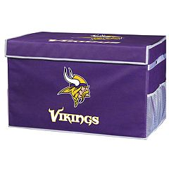 Franklin Sports Minnesota Vikings Small Collapsible Footlocker Storage Bin
