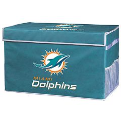 Franklin Sports Miami Dolphins Small Collapsible Footlocker Storage Bin